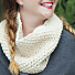 1 Hour Seed Stitch Cowl pattern