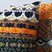 Black Tulip Fairisle Cushion pattern