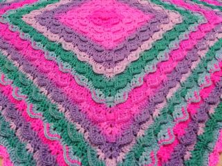Crochet blanket pattern Pixie Tales by BebaBlanket
