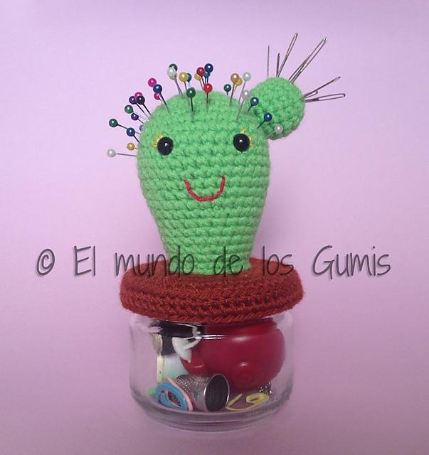 Bichus Amigurumis: Patrón Gratis - Cactus Amigurumi | 640x603
