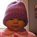 Seed Stitch Brim Baby Hat pattern