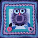 Zooty Owl Cushion pattern