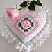 Granny Rose Heart Pillow pattern