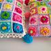 Granny Rose Pom Pom Pillows pattern