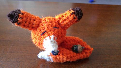 Sleepy Fox Pattern from Adorably Kawaii   Tiny Moon   281x500