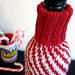 Candy Cane Wine Cozy pattern