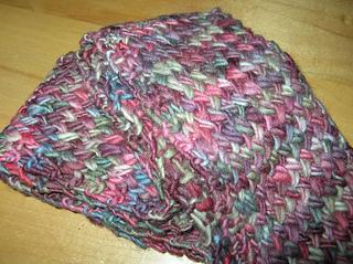 malabrigo cross stitch scarf