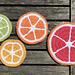 Zesty Citrus Coasters pattern