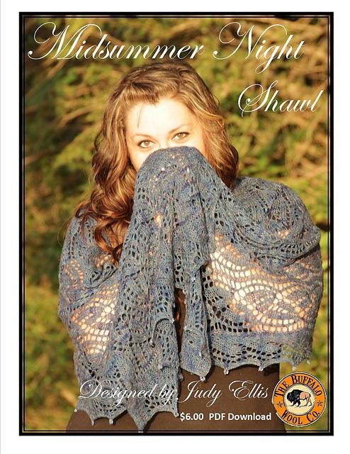 Midsummer Night Shawl by Judy M. Ellis, Handiwords Ltd LLC