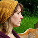 Autumn Gold Lace Beanie/Slouch Hat pattern