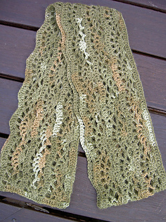 Crocus scarf - finished