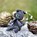 Miniature black Dragon pattern