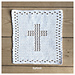 Christening cloth with cross pattern