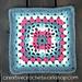 Puff Cross Granny Square pattern