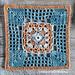 Framed Filet 4 Point Cross Square pattern