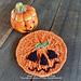 Halloween Pumpkin Coaster pattern