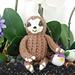 Loom Knit Baby Sloth pattern