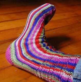 Ravelry: Machine Knit Sideways Sock pattern by Catherine ...