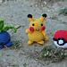 Pokeball, pikachu and Oddish pattern