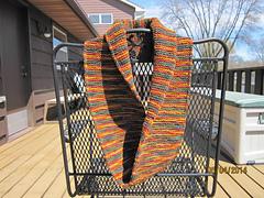 October Wrap knit by Carolyn Olsen  https://www.ravelry.com/people/sykkelgal