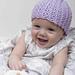 Purple Baby Hat pattern