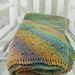 Diagonal Wave Baby Blanket pattern