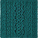 2019 Knitterati Diagonal Afghan Block 12 pattern