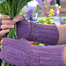 Purple Pulsera Mitts pattern
