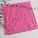 LOVE dishcloth pattern