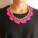 Crochet necklace with chain pattern