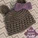 Bear and Bow Crochet Beanie pattern