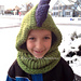 Dino Hooded Cowl pattern