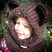 Cozy Bear Hooded Cowl Loom Knit Pattern pattern