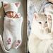 Cat Baby Cocoon Hat & Bootie Set pattern