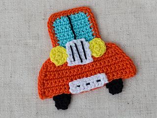 Classic Car Crochet Applique – a free pattern   MyCrochetProjects   240x320