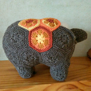 Elephant Crochet Pattern, Elephant Amigurumi Pattern, Trunk Up ... | 320x320