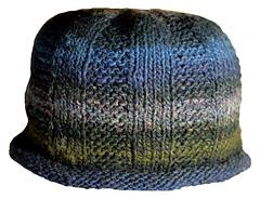 garter rib hat side view