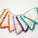 Bunting Flags with Bobble Edging pattern