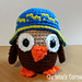 Owl with Hat pattern