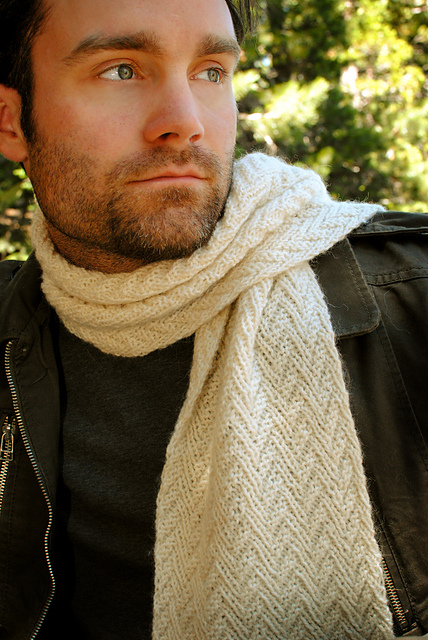 Herringbone Parallelogram Scarf by Christine Guest