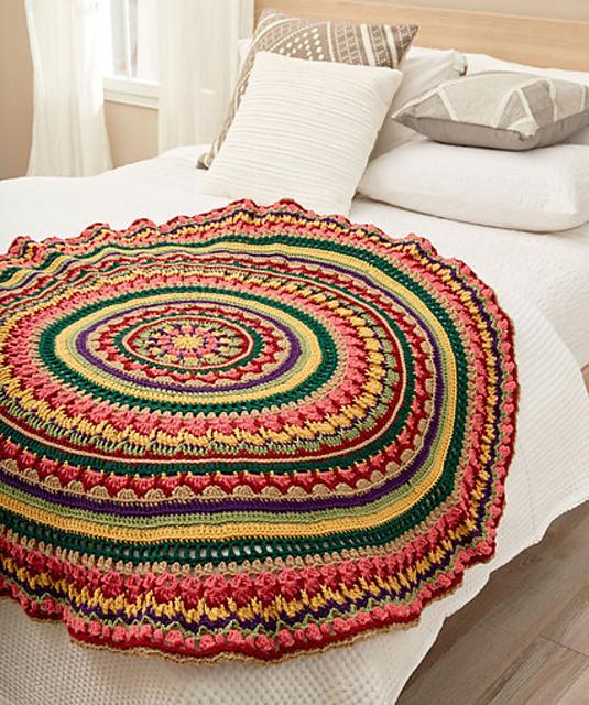 Ravelry Circular Fall Mandala Throw Pattern By Lisa Gentry