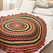 Circular Fall Mandala Throw pattern