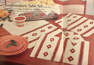 Ravelry Southwestern Table Set Table Runner Pattern By