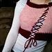 Asymmetrical seed stitch vest pattern