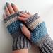 Stormy Skies fingerless mittens pattern