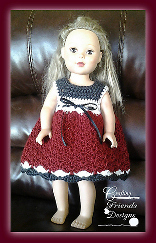 "Baby Tay 18"" Doll dress crochet pattern"