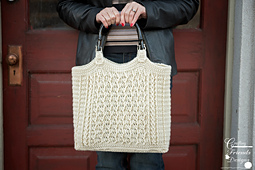 Cabled Zig Zag Bag crochet pattern by Crafting Friends Designs