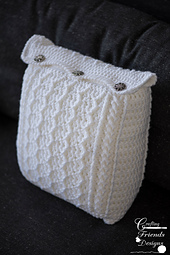 Cabled Zig Zag Square Pillow