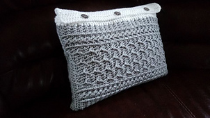 Cabled Zig Zag Rectangle Pillow