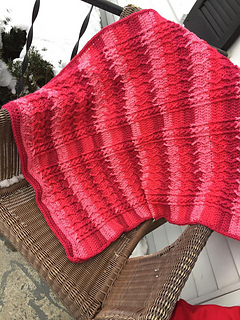 Cabled Zig Zag Throw Pattern test by Tanya Dubois